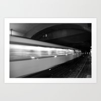 Metro In Motion Art Print