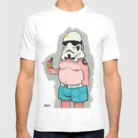 Trooper White Mens Fitted Tee White SMALL