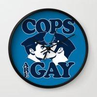 Cops Are Gay Wall Clock
