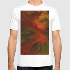Flaming Red Mens Fitted Tee White SMALL