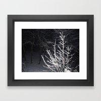 Snow Branches Framed Art Print
