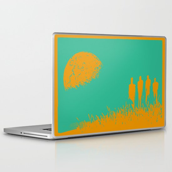 """New Moon"" by Justin Hopkins (Green Version) Laptop & iPad Skin"