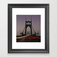 St. Johns Bridge III Framed Art Print