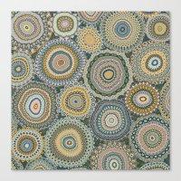 Boho Patchwork-Mineral C… Canvas Print
