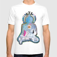 Buddha  Mens Fitted Tee White SMALL