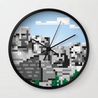 south dakota rocks Wall Clock