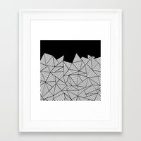 Abstraction Mountain Framed Art Print