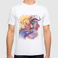 Koi Mens Fitted Tee Ash Grey SMALL