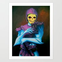 Skeletor Holding A Cat Art Print