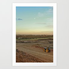 Dirt Moon Sunset Art Print