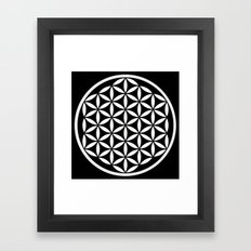 Flower of Life Yin Yang Framed Art Print