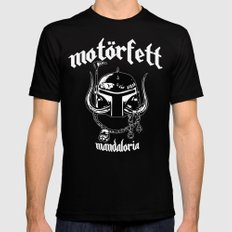 MotorFett Black Mens Fitted Tee SMALL