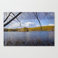 Hall Lake in Autumn No 0071 Canvas Print