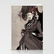 Black Silk Stationery Cards