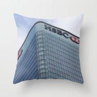 HSBC Tower London Throw Pillow