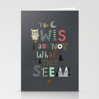 Not What They Seem Stationery Cards