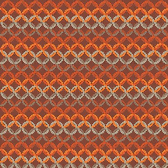 Retro Chain Pattern Art Print