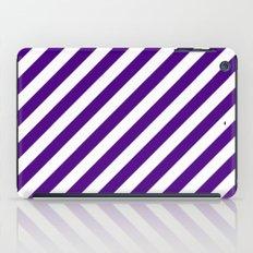 Diagonal Stripes (Indigo/White) iPad Case