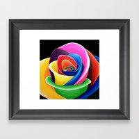 Rainbow Flower Framed Art Print
