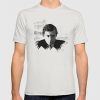 Glenn Gould - Canadian Pianist, Composer Mens Fitted Tee Silver SMALL