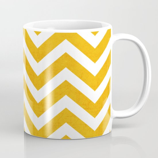 yellow chevron Mug