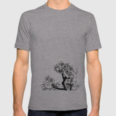 Cherry Blossom #7 Mens Fitted Tee Athletic Grey SMALL