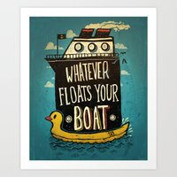 quotes Art Prints featuring Quotes by Ronan Lynam