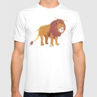 Bumblelion Mens Fitted Tee White SMALL