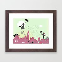 Mary Poppins-London Framed Art Print