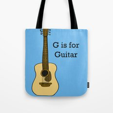 G is for Guitar Tote Bag