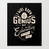 Born Genius Canvas Print