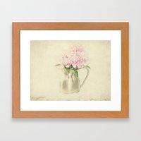 Antique Peony Bouquet In… Framed Art Print