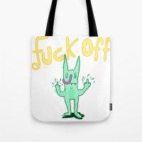Fuck Off Rabbit Tote Bag