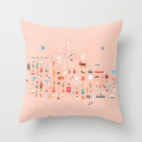 From C to Shining C Throw Pillow
