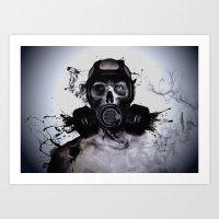 Zombie Warrior Art Print