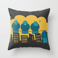 Three plus one Throw Pillow