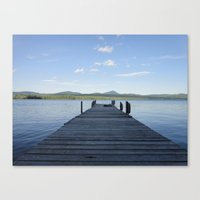 Summer Lake Dock Canvas Print