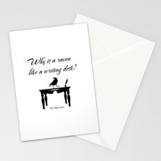 Alice In Wonderland Why Is A Raven Like A Writing Desk Stationery Cards