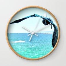 Pelican and Jetski Wall Clock