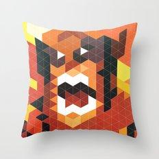 Geometric Wolverine Throw Pillow