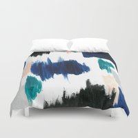 Blue Abstract Painting Duvet Cover