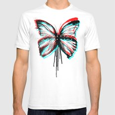 Colorfly White SMALL Mens Fitted Tee