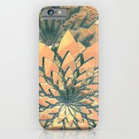 iPhone Cases featuring Abstract Orange Flowers by Phil Perkins