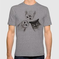 The Owl's 3 Mens Fitted Tee Athletic Grey SMALL