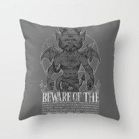 Super Monster Throw Pillow