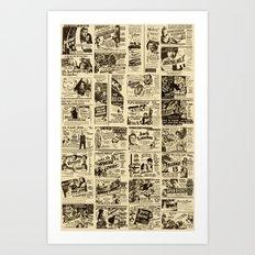 Movie Cards Art Print