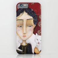 iPhone & iPod Case featuring White Cat by Sonia Poli