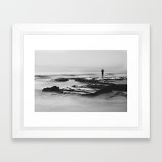 Cottesloe Fisherman Framed Art Print