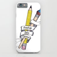 iPhone & iPod Case featuring Creativity Takes Courage by Eric Weiand