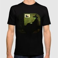 Wizzler's Mother  |  Wic… Mens Fitted Tee Black SMALL